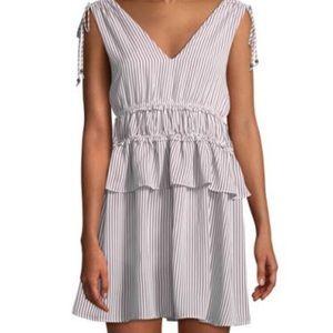 Line + Dot Striped Tie Shoulder Mini Dress